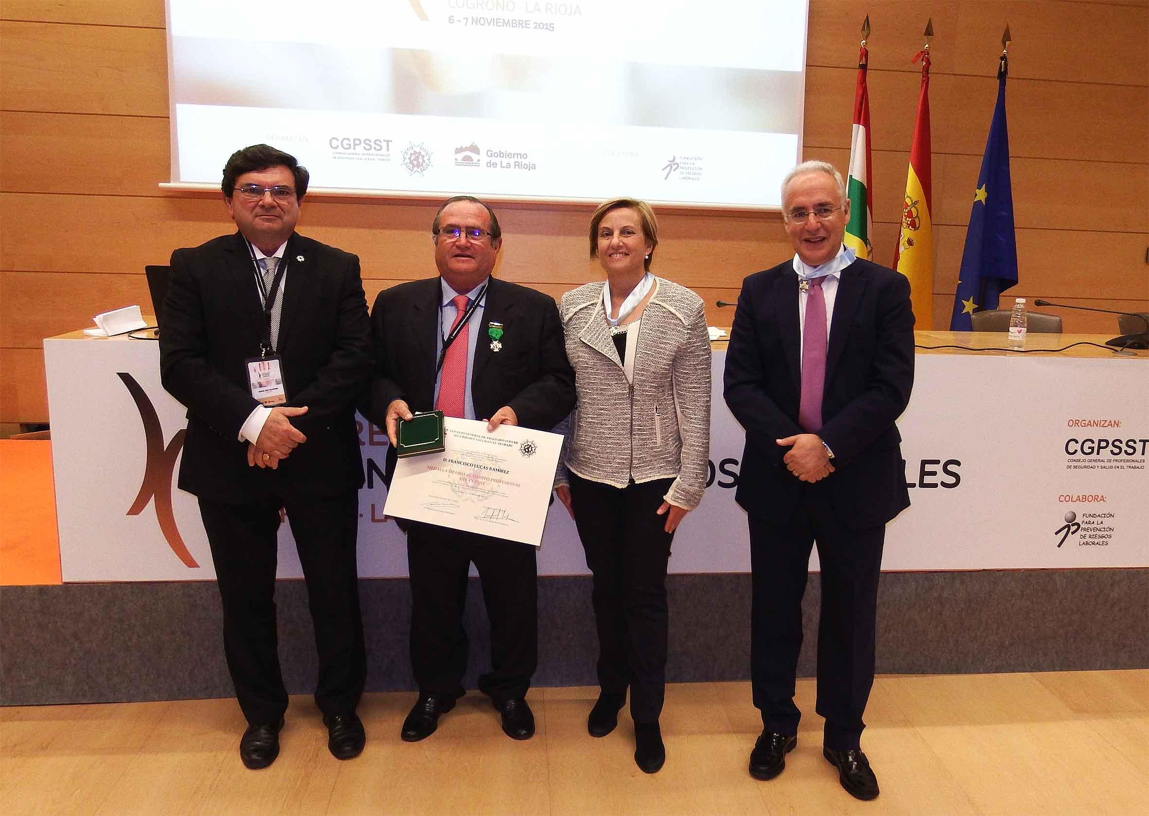 Francisco Lucas, medalla de oro al mérito profesional de la seguridad y salud en el trabajo