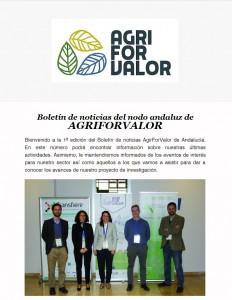 newsletter agriforvalor Andalucia